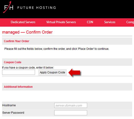 Enter the Future Hosting Coupon Code