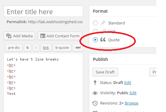 How to Preserve Line Breaks and Formatting in WordPress