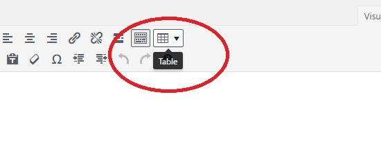 How to Add a TinyMCE Table Button to WordPress