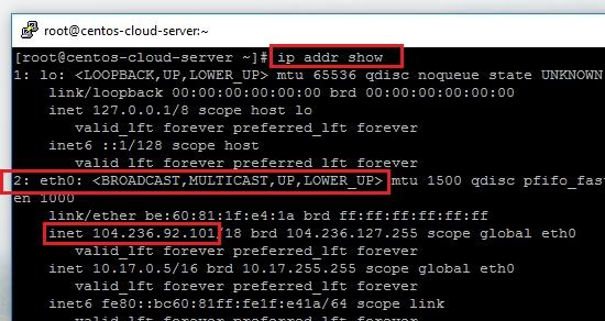How can i find my ip address in linux