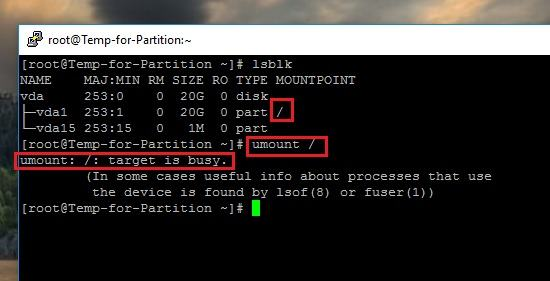 How to Unmount Filesystems or Partitions in CentOS Linux