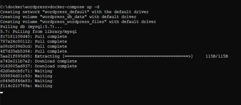 docker-compose download container images