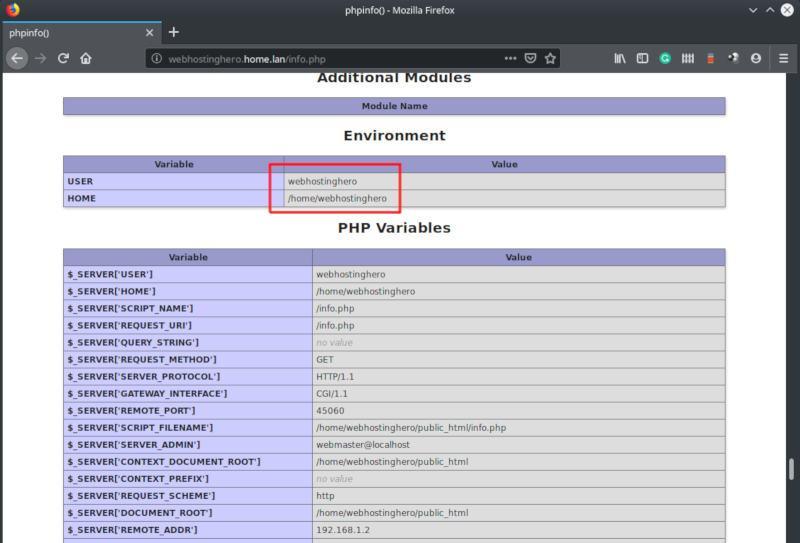 ubuntu php-fpm environment user